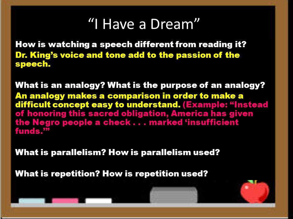 Purpose of i have a dream speech.