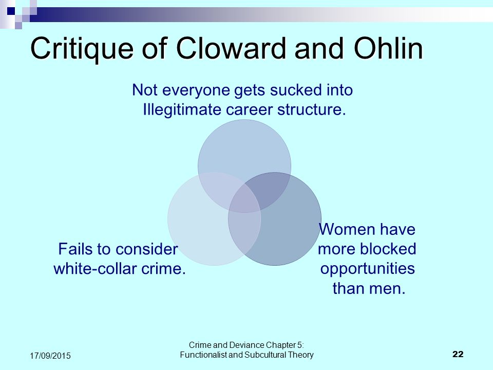 Critique of Cloward and Ohlin