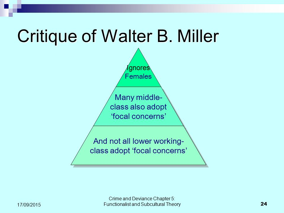 Critique of Walter B. Miller
