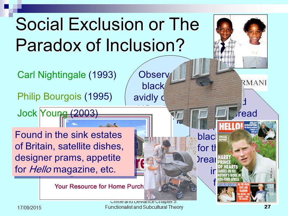 Social Exclusion or The Paradox of Inclusion