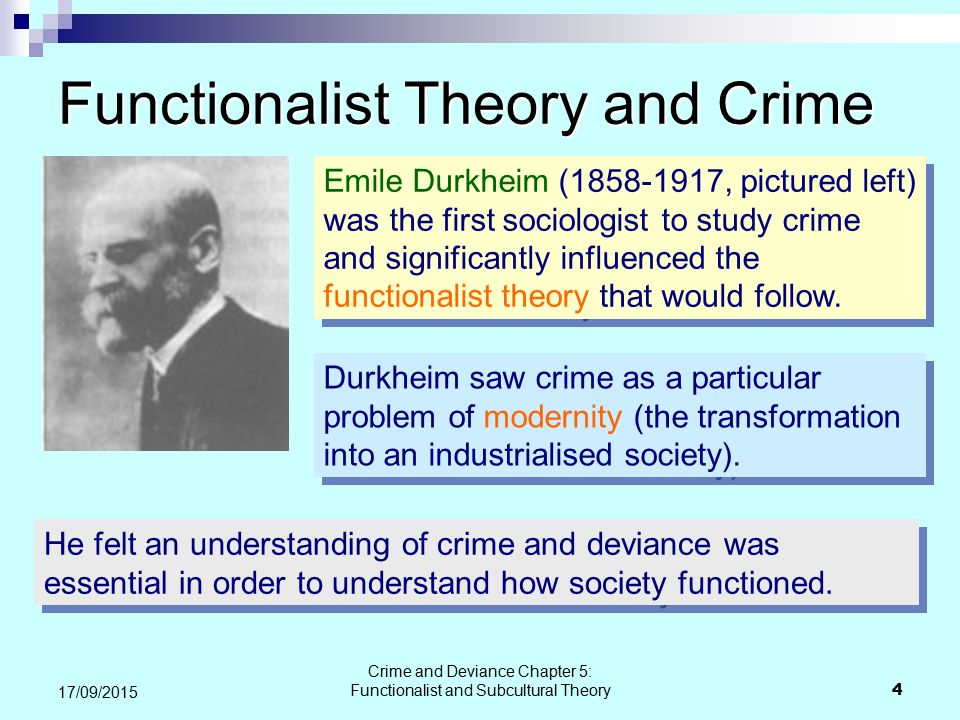 Functionalist Theory and Crime