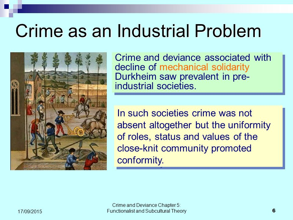 Crime as an Industrial Problem