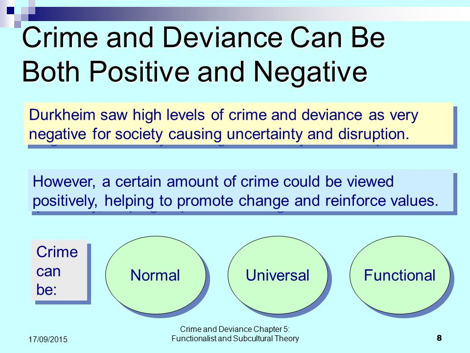 Crime and Deviance Can Be Both Positive and Negative