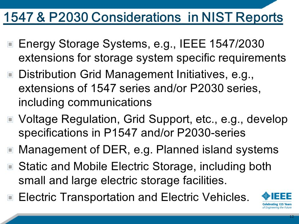 1547 & P2030 Considerations in NIST Reports