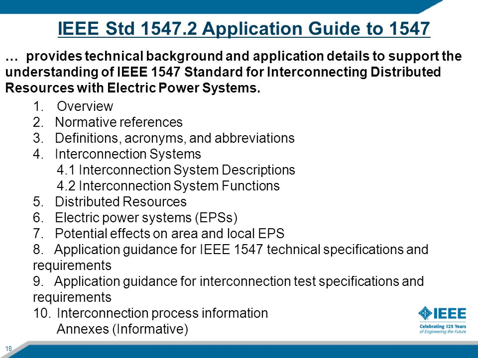 IEEE Std 1547.2 Application Guide to 1547