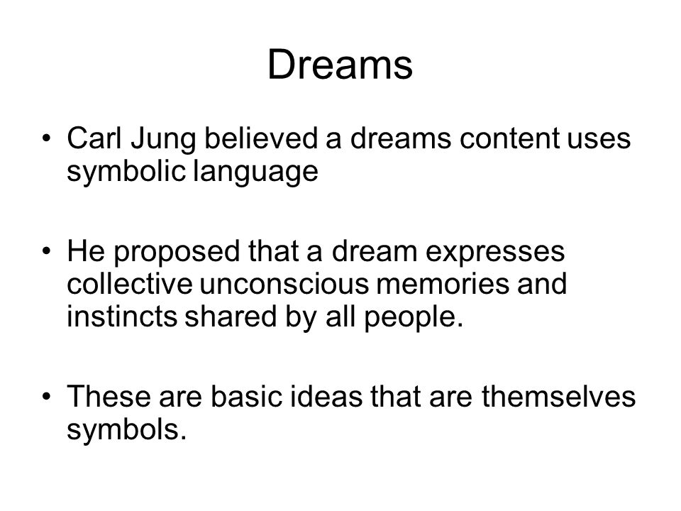 The Symbolic Language Of Dreams Coursework Writing Service