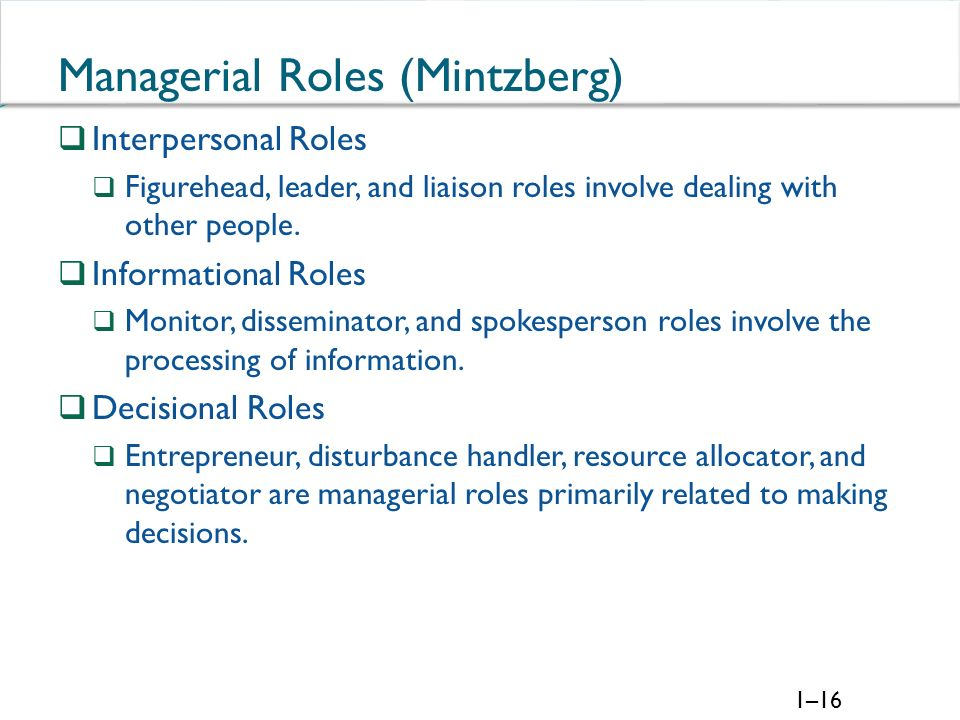 mintzberg liaison role essay Essay sample on analysis of mintzberg's management theory - analysis of mintzberg's management theory into the role of a liaison defined by mintzberg.