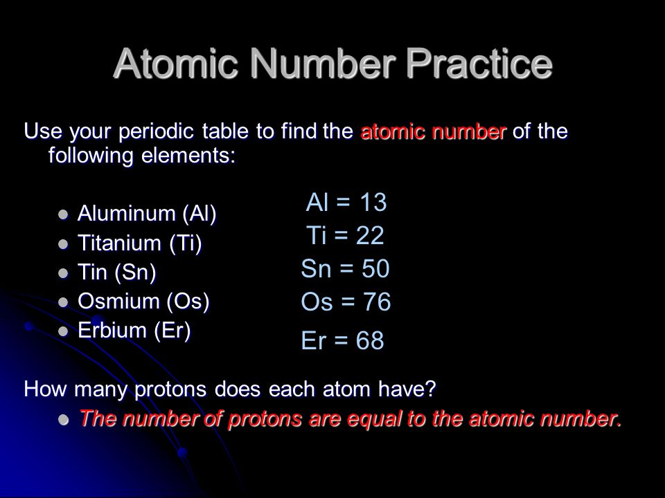 Chapter 17 cp atoms ppt video online download atomic number practice urtaz Image collections