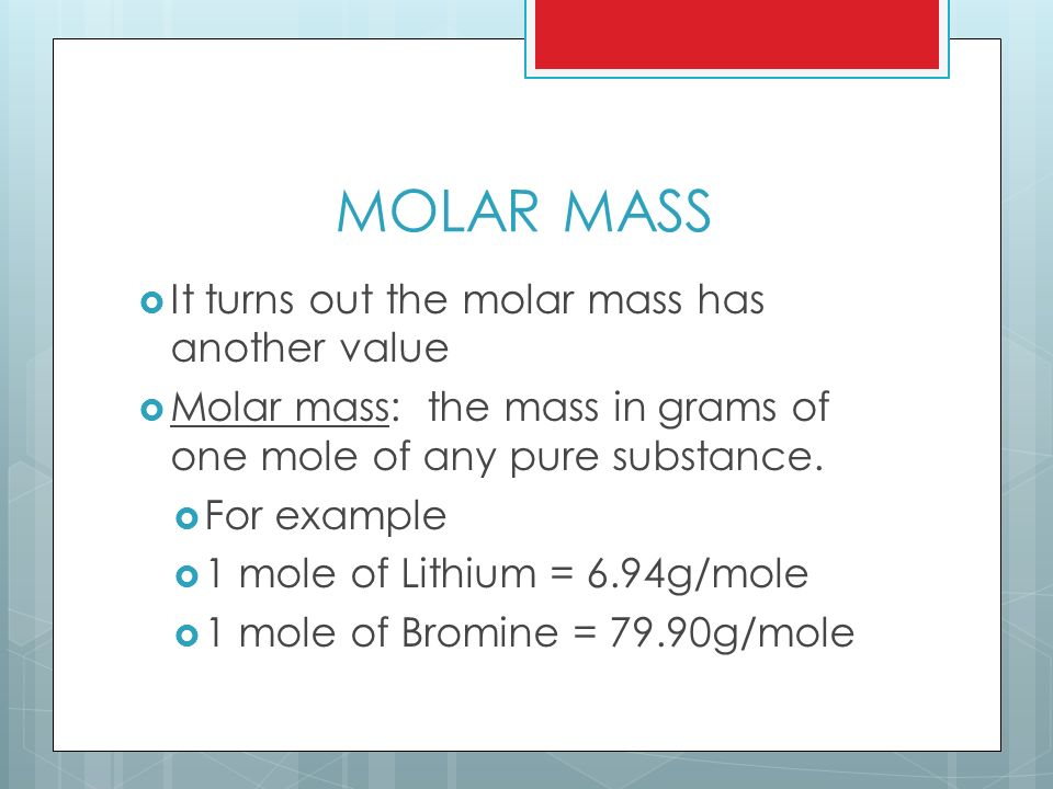 how to find molar mass of a compound