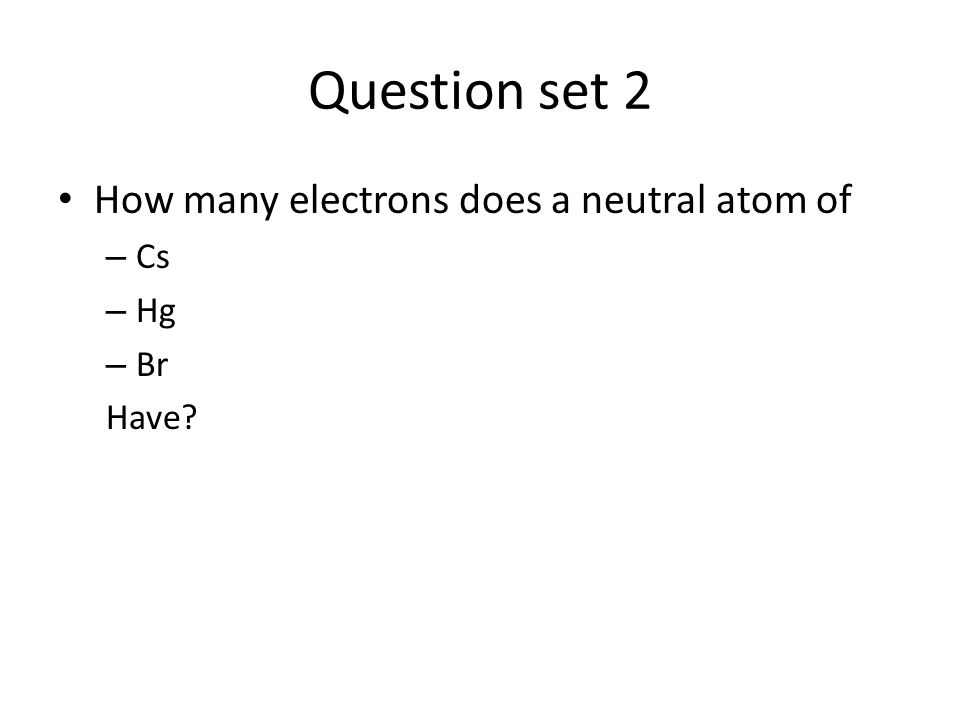 how to find electrons in neutral atom