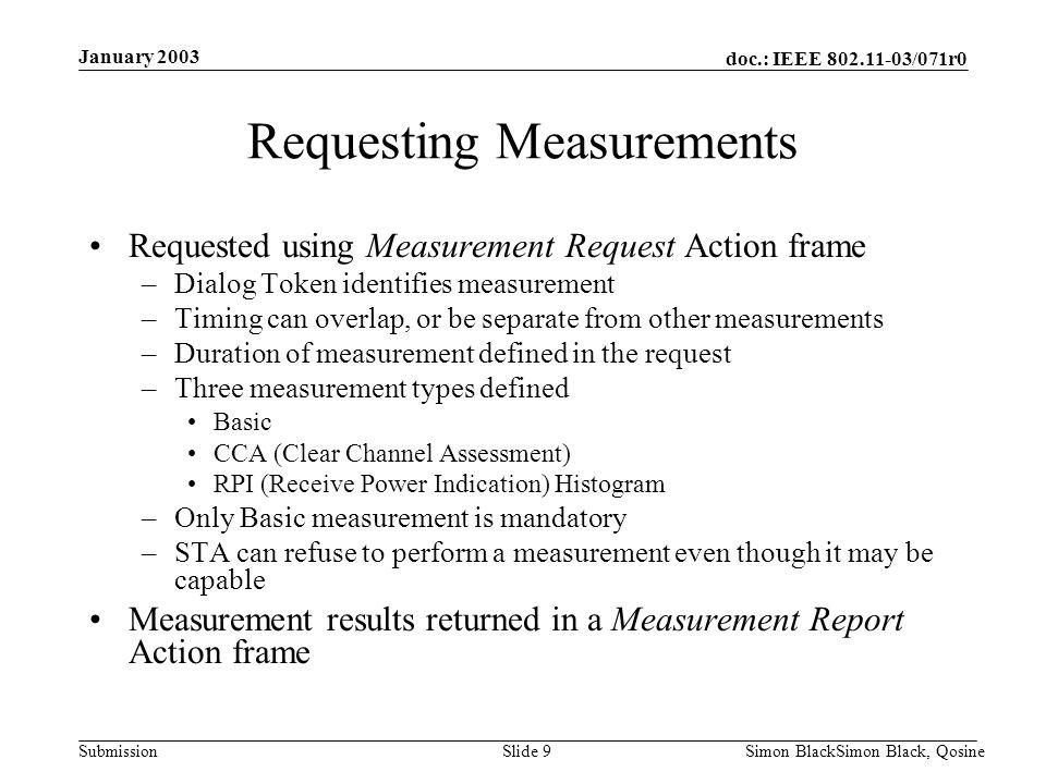 Requesting Measurements
