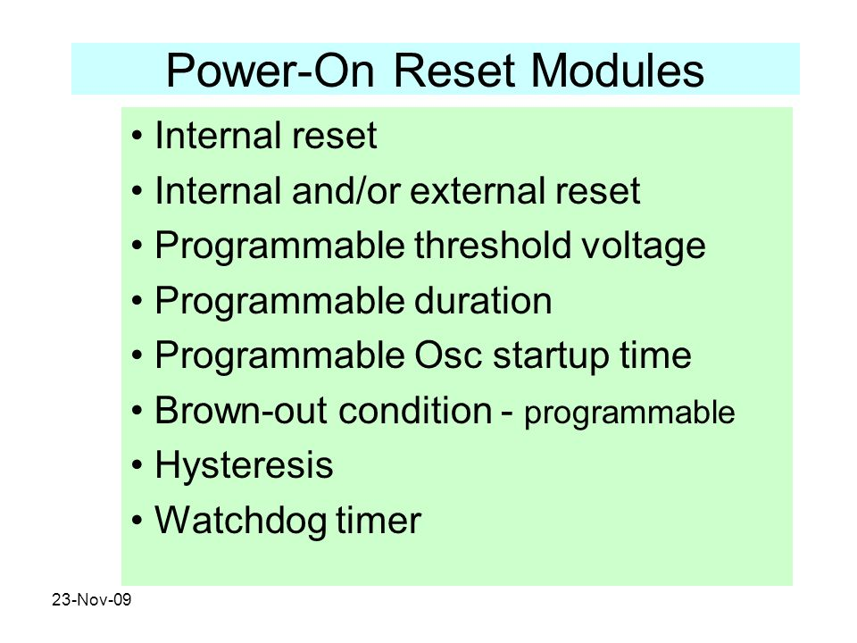 Power-On Reset Modules