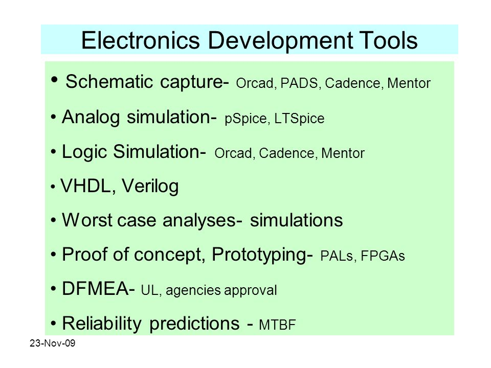 Electronics Development Tools