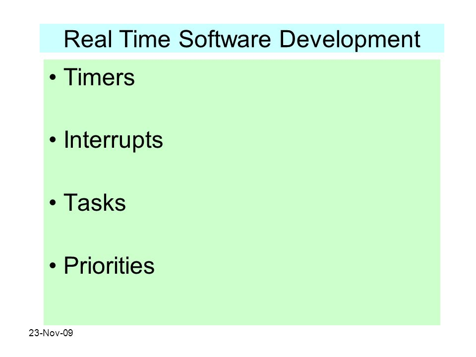 Real Time Software Development