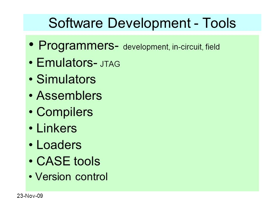 Software Development - Tools