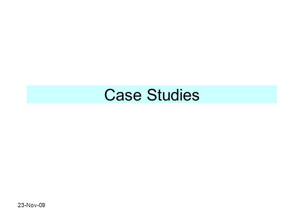 Case Studies 23-Nov-09