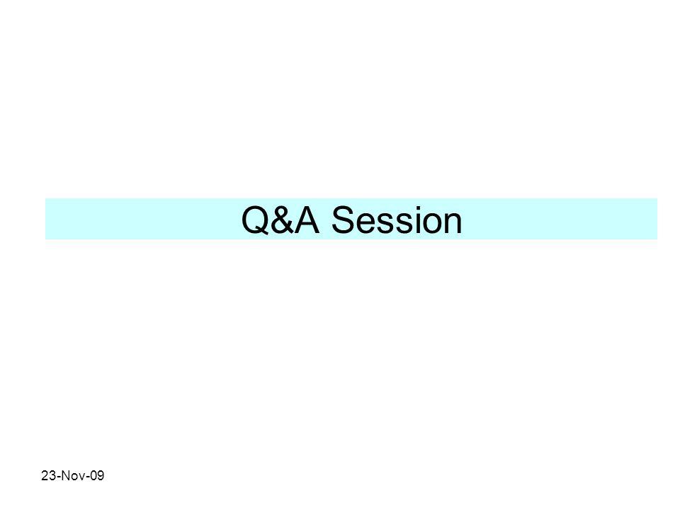 Q&A Session 23-Nov-09