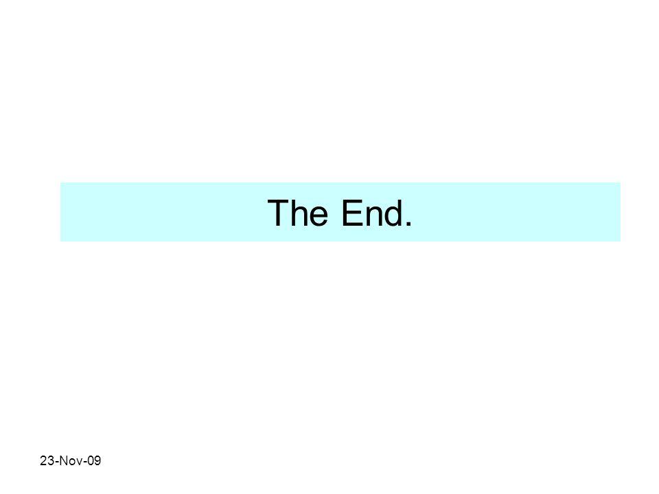 The End. 23-Nov-09