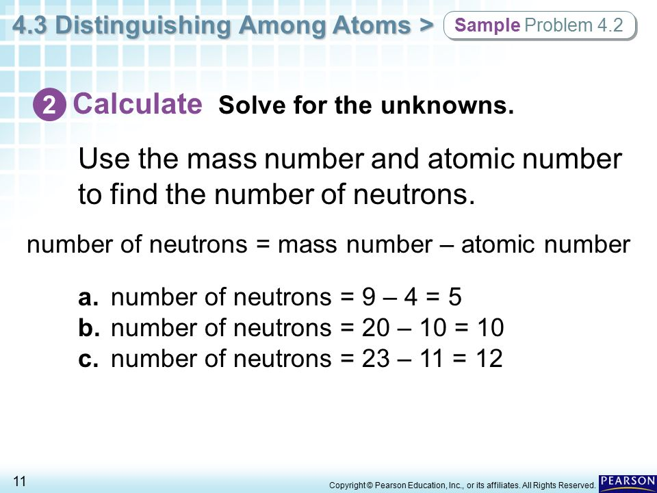 how to find number of neutrons from atomic mass