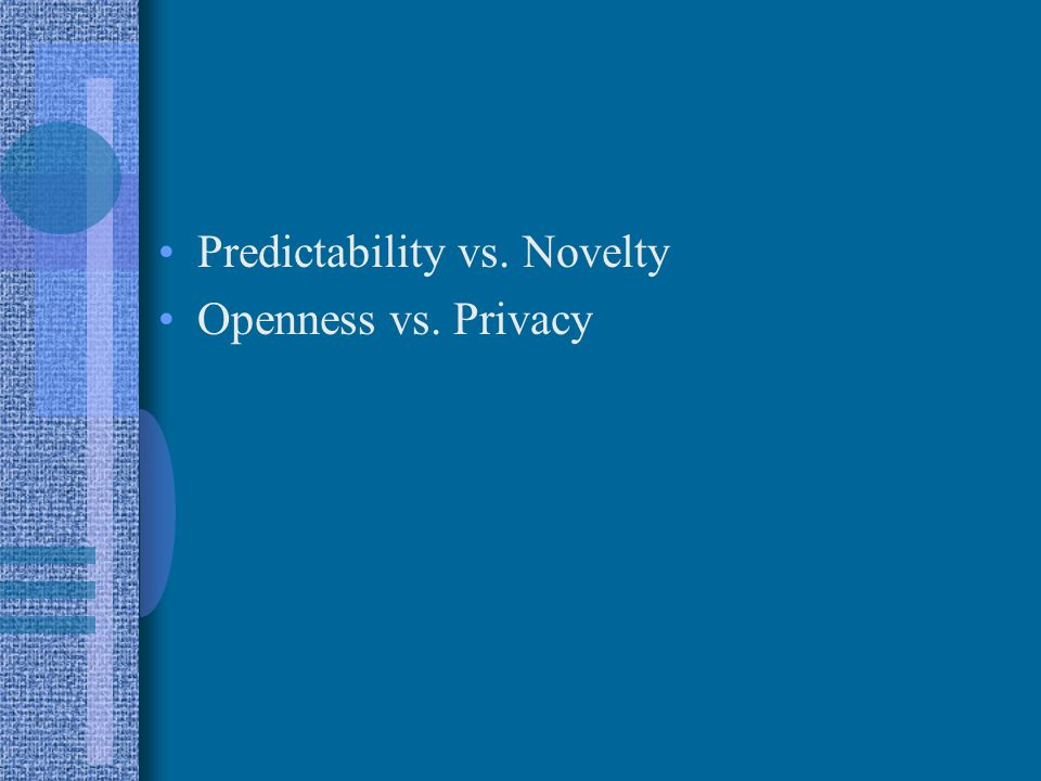 novelty and predictability relationship test