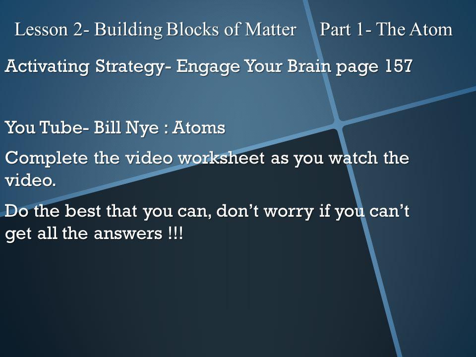 lesson 2 building blocks of matter part 1 the atom ppt video online download. Black Bedroom Furniture Sets. Home Design Ideas