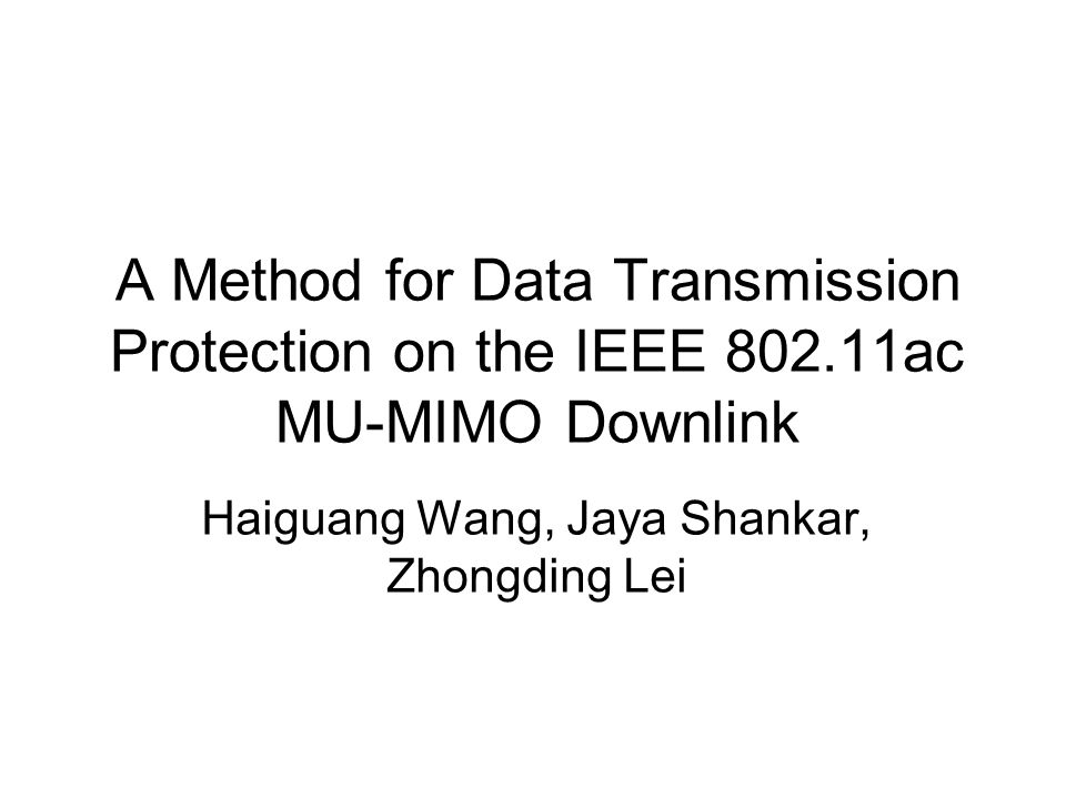 Haiguang Wang, Jaya Shankar, Zhongding Lei