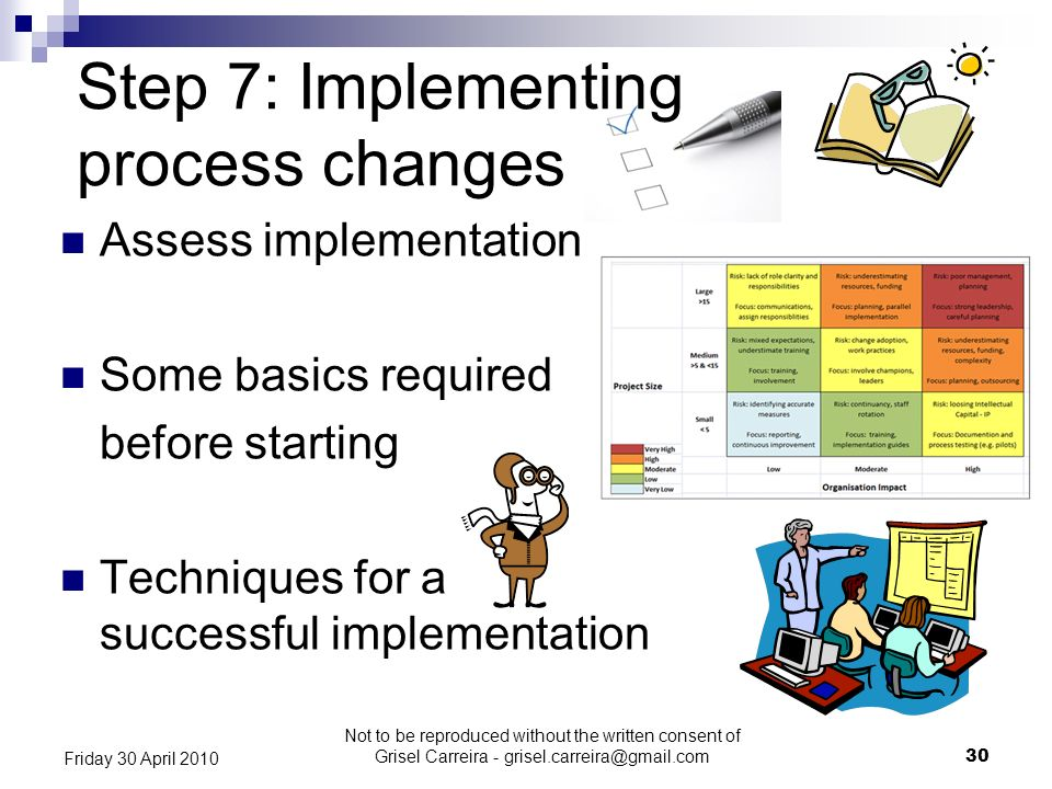 Step 7: Implementing process changes