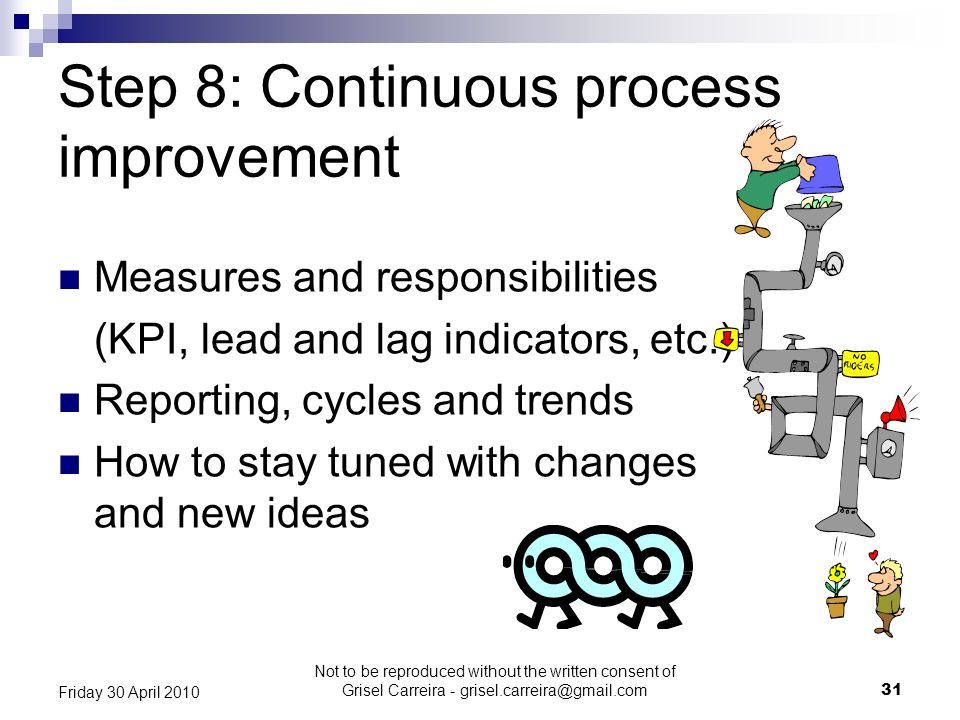 Step 8: Continuous process improvement