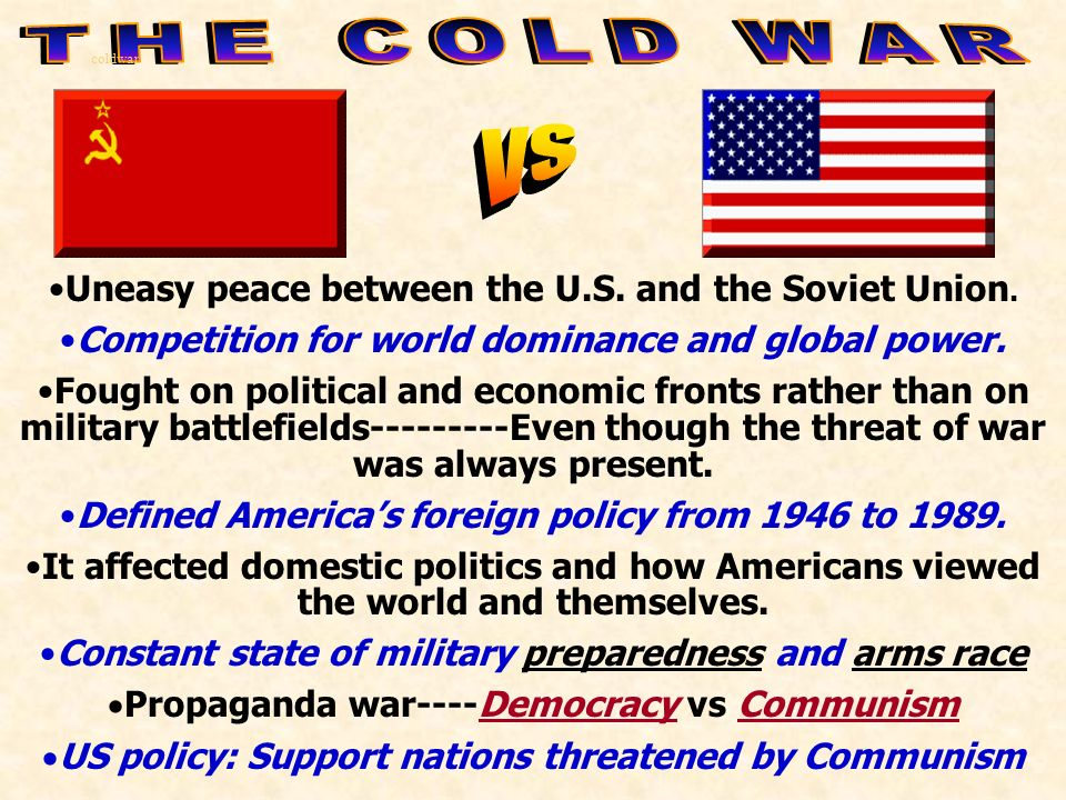 "an analysis of the cold war between 1946 and 1961 Analyze ideological differences and other factors that contributed to the cold  war and to  there was never a real war between the two sides between 1945  and 1990, but  between 1949-1961 35 million east germans fled 1961: barrier  built,  giving the ""iron curtain"" address at westminster college on march 5,  1946."
