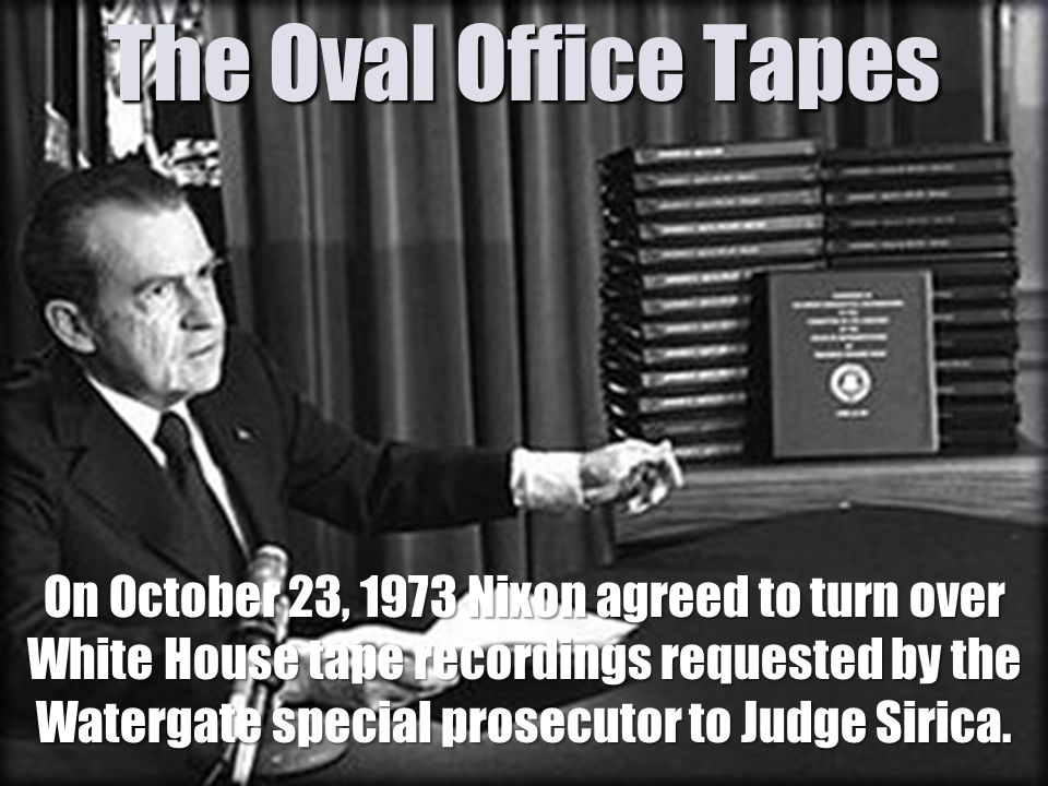 Image result for president nixon agrees to turn over white house tapes