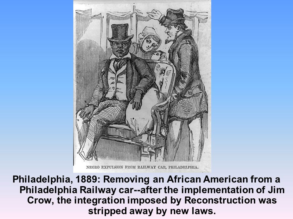 reconstruction and the jim crow laws essay The stain of the jim crow laws essay practiced widespread racial discrimination in the form of the jim crow laws (pilgrim) under these laws, legalized further by the court case plessy v.