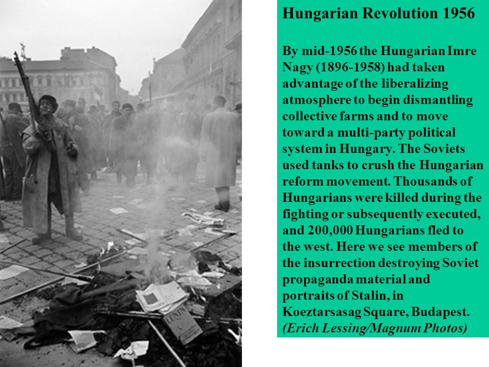 Image result for soviet troops move into crush the hungarian revolution in eastern europe