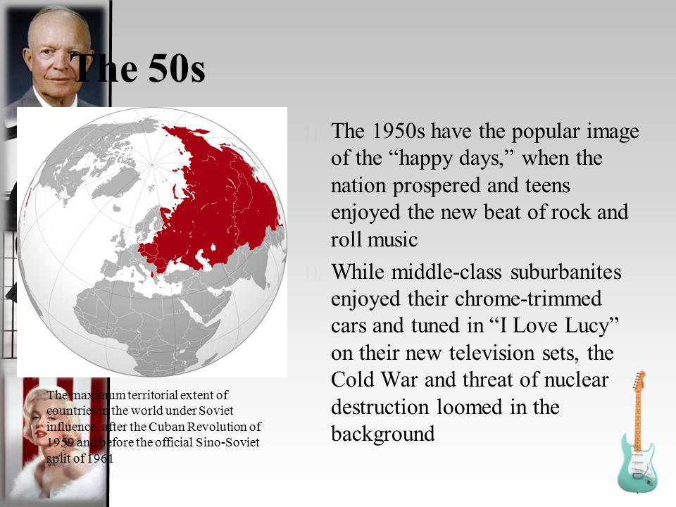 rock the war and roll with Rock n' roll in the cold war america's secret weapon major rock groups in each decade 1960's- the beatles sparked the love of rock in soviets 1970's- during the iron curtain bands like the plastic people of the universe, and time machine helped express their words.