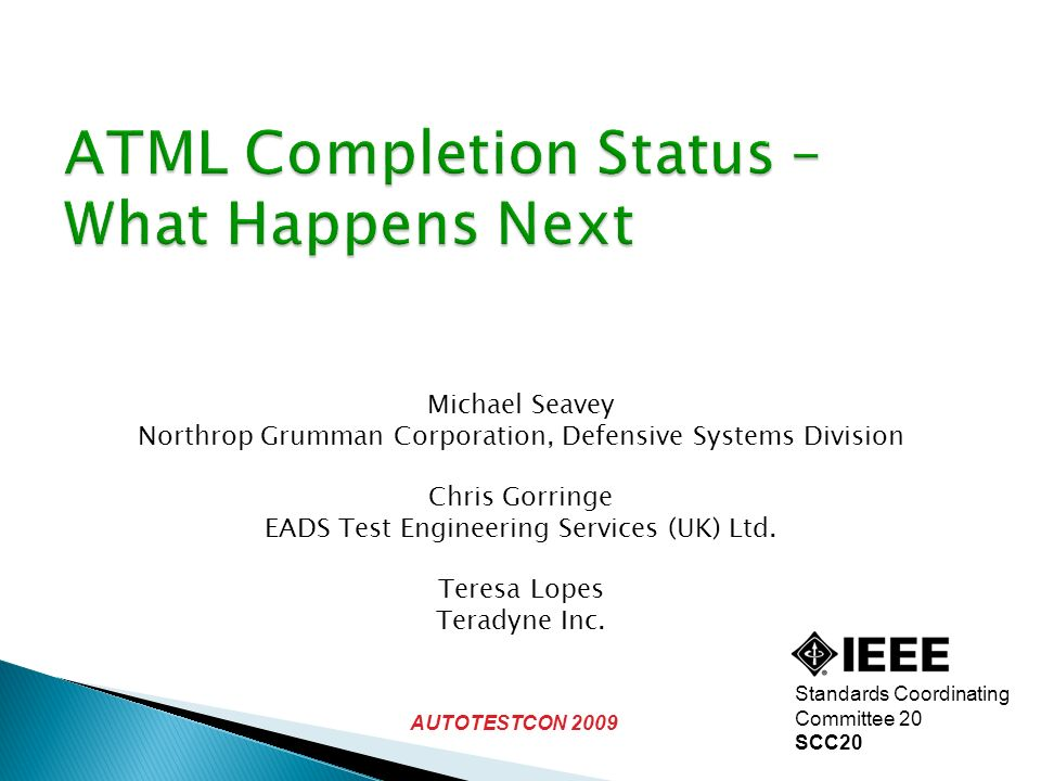 ATML Completion Status – What Happens Next