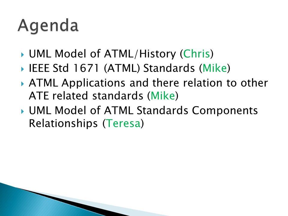 Agenda UML Model of ATML/History (Chris)