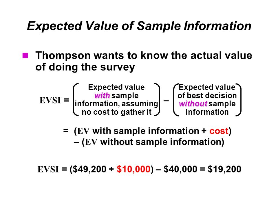 Decision Analysis (cont) - ppt download