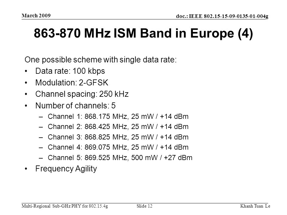 863-870 MHz ISM Band in Europe (4)