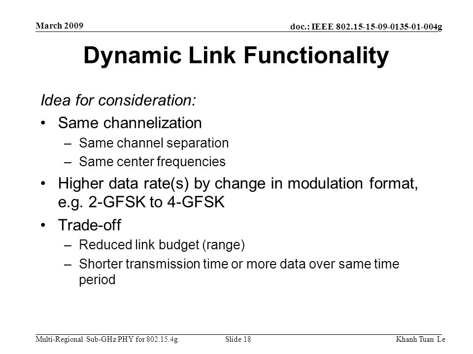 Dynamic Link Functionality