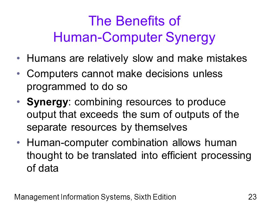benefits of human computer synergy The benefits of steam in k-12 education complex and math- and computer-oriented he wrote this about art/science synergy.