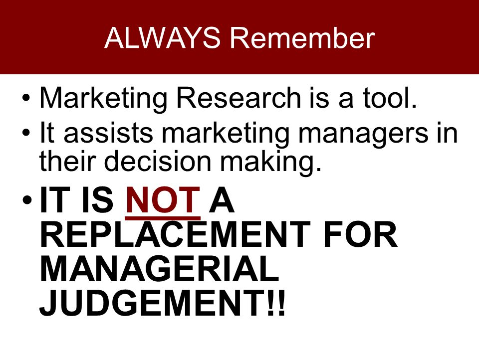 managerial decision making research design The most important job of any manager is making decisions  of this research  is to develop a framework and design a road map that businesses can use to.