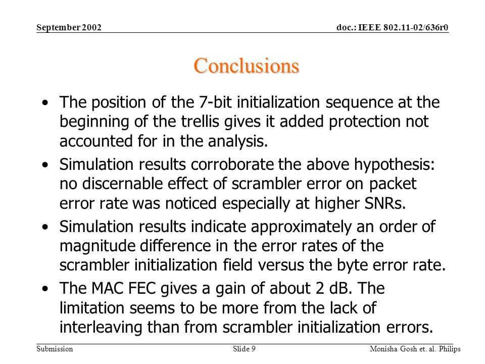 September 2002 Conclusions.