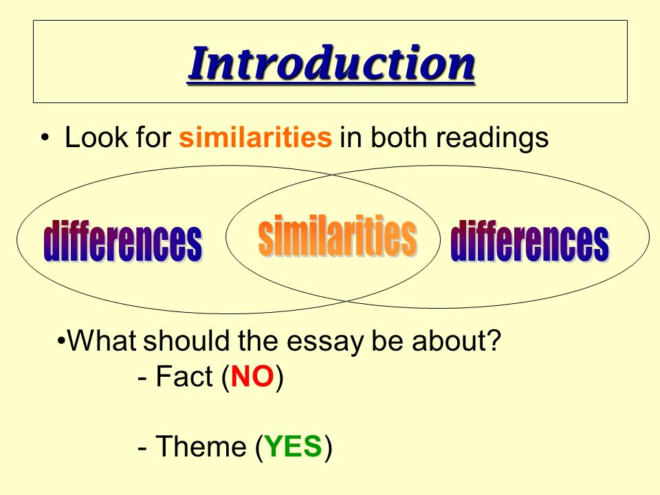 differences essays