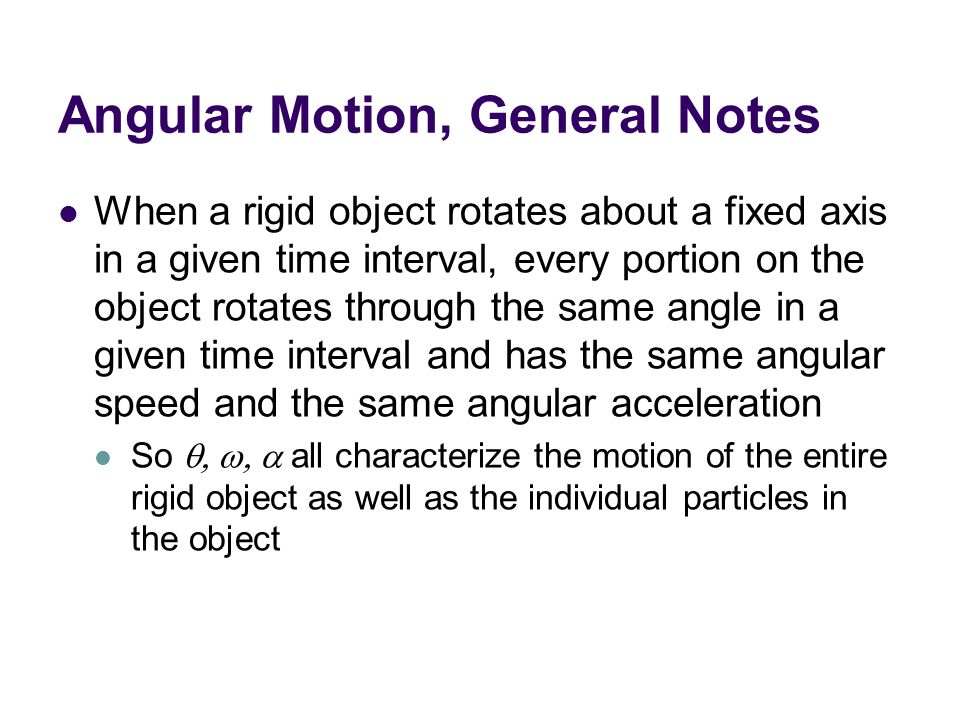 general notes