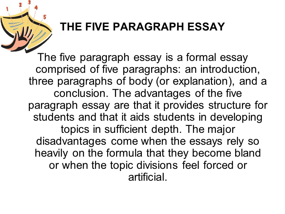 easy way to write a five paragraph essay The five-paragraph essay is the general pre-college writing style  because  dogs need to be taken for walks, they provide a fun, safe way for owners to get.