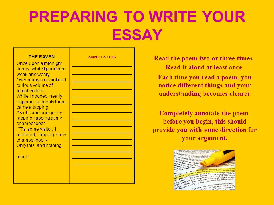 writing a poetry analysis essay ppt video online  preparing to write your essay