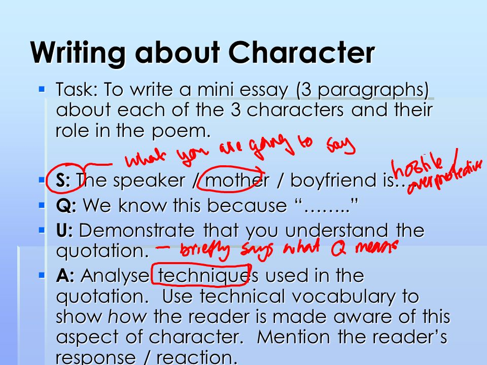 Essay about character