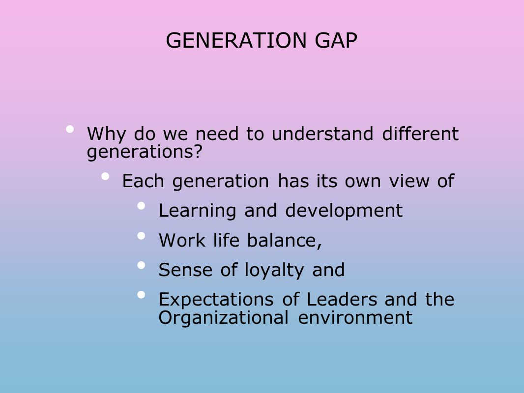 Workshop on GENERATION GAP Facilitated by PADMA AYYAGARI ...