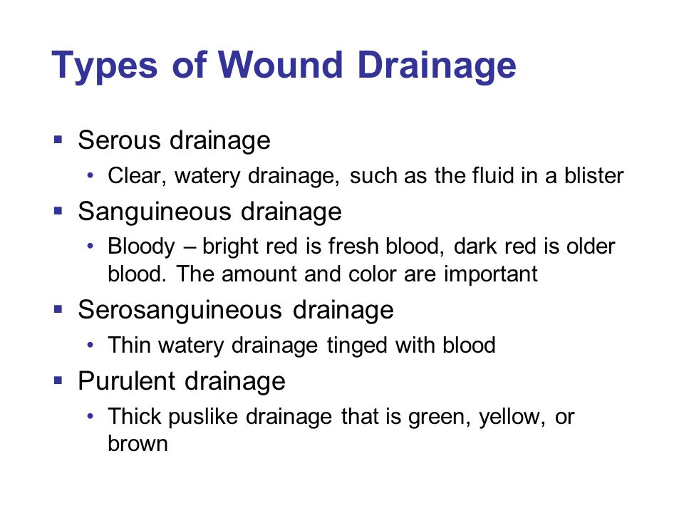 Chapter 42 assisting with minor surgery ppt video for Types of drainage