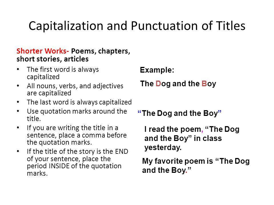punctuation title