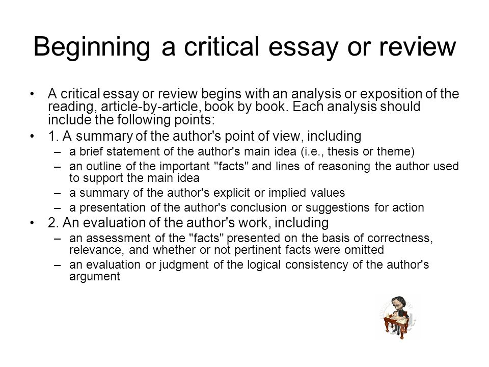 What is critical writing